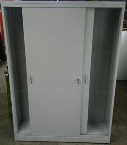 77157217 Szafa narzędziowa, drzwi przesuwane, 4 półki regulowane (wymiary: 2000x1200x500 mm) - 2835276240