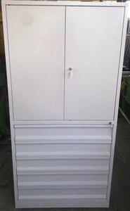 77157230 Szafa narzędziowa, 5 szuflad, 2 przestawiane półki (wymiary: 2000x970x500 mm) - 2835276253