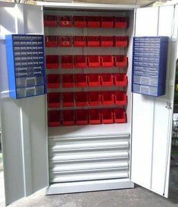 77157248 Szafa narzędziowa z pojemnikami, 4 szuflady, 38 pojemników (wymiary: 2000x900x500 mm) - 2835276271