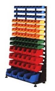 77157404 Regał z pojemnikami plastikowymi, 103 pojemniki (wymiary: 1670x1000x420 mm) - 2835637770