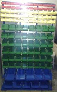 77157418 Regał z pojemnikami plastikowymi, 118 pojemników (wymiary: 2000x1200x400 mm) - 2835637784