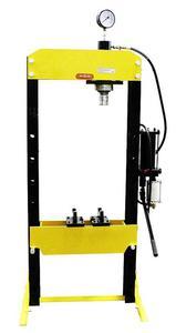 DOSTAWA GRATIS! 44358873 Prasa hydrauliczna, pneumatyka, ruchomy tłok, regulowany stół (siła nacisku: 20 T) - 2837104299