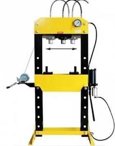 DOSTAWA GRATIS! 44358874 Prasa hydrauliczna, pneumatyka, ruchomy tłok, regulowany stół, pedał sterujący (siła nacisku: 30 T) - 2837104300
