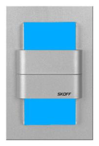 Kinkiet LED TANGO Duo aluminium barwa niebieska MH-TDK-G-B-1-PL-00-01 SKOFF - 2832528078