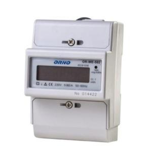 1-fazowy wskaźnik zużycia energii elektrycznej, 80A, dodatkowy wskaźnik, wyjście impulsowe OR-WE-503 ORNO - 2832528506