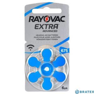 6 x baterie do aparatów słuchowych Rayovac Extra Advanced 675 - 2823862499