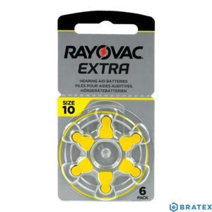 6 x baterie do aparatów słuchowych Rayovac Extra Advanced typ 10 - 2823862500