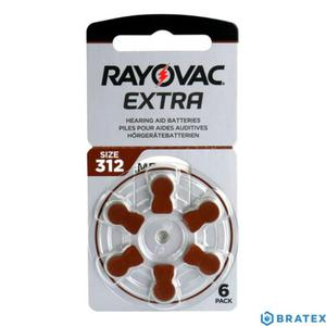 6 x baterie do aparatów słuchowych Rayovac Extra Advanced typ 312 - 2823862502