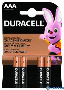 Duracell Basic AAA/LR03 1,5V baterie alkaliczne 4szt (blister) - 2844470764