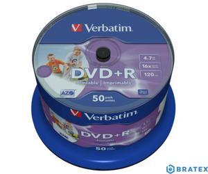 Verbatim DVD PLUS R 16x 4.7GB 50 Printable - 2836054435