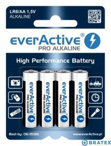 4 x baterie alkaliczne everActive Pro LR6 / AA (blister) - 2839013699