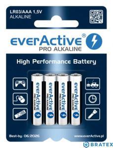 4 x baterie alkaliczne everActive Pro LR03 / AAA (blister) - 2839013700