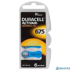 6 x baterie do aparatów słuchowych Duracell ActivAir 675 - 2823862368