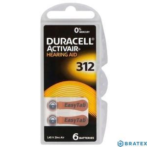 6 x baterie do aparatów słuchowych Duracell ActivAir 312 - 2823862369