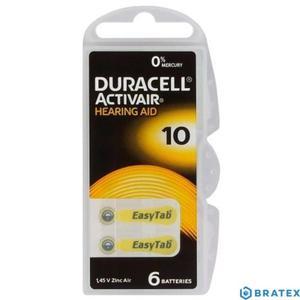 6 x baterie do aparatów słuchowych Duracell ActivAir 10 - 2823862371
