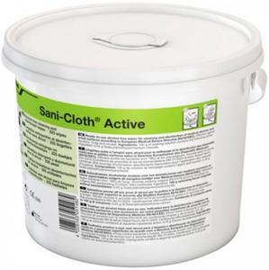 Ecolab Sani-Cloth Active wiaderko 225 szt. chusteczki odkażające Bezalkoholowe chusteczki Sani-Cloth Active do dezynfekowania i mycia powierzchni medycznych - 2844646445