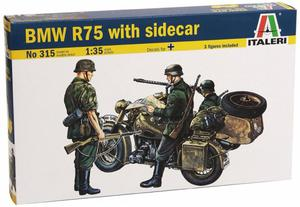 ITALERI BMW R75 WITH SIDECAR SKALA 1:35 14+ - 2837232045