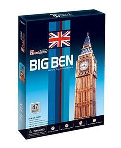PUZZLE 3D ZEGAR BIG BEN 47 EL. CUBICFUN 3+ - 2822969518
