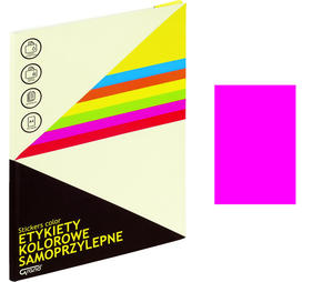 Etykiety samoprzylepne Grand różowe /25 arkusze/ 062 - 2863721318