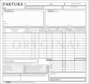 Faktura VAT 2/3 A4 1+1 uniwersalna F19 - 2858321937