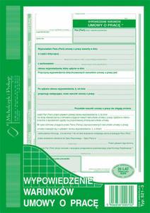 Wypowiedzenie warunków umowy o pracę A5 521-3 - 2852468980