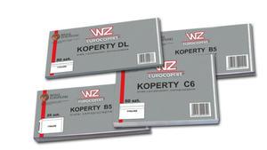 Koperty białe DL klejona na mokro /50/ WZ - 2828943542