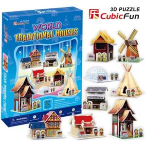 Puzzle 3D Tradycyjne Domki - Cubic Fun - 1130193866