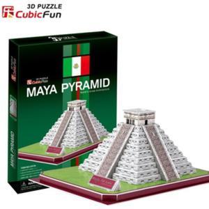 Puzzle 3D Piramida Majów - Cubic Fun - 1130193861