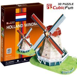 Puzzle 3D Holenderski Wiatrak - Cubic Fun - 1130193850