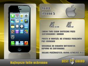 BEST GUARD ULTRA Folia Ochronna LCD Apple Iphone 5 na wyświetlacz - 1559760094