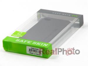 Pokrowiec Apple iPhone 4 4S CASE-MATE Safe Skin Smooth Czarny Sylikon - 1559760112