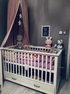 Białe łóżeczko z funkcją sofy 140x70 MELODY - 2857577912