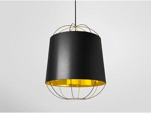 Petite Friture :: Lampa wisząca LANTERNA M czarna/złota - czarny \ M - 2855020393