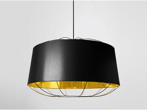Petite Friture :: Lampa wisząca LANTERNA L czarna/złota - czarny \ L - 2855020394