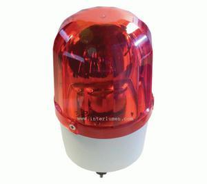 Syrena alarmowa 230V AC IP20 z kogutem czerwonym Kogut świetlny czerwony z sygnalizacją dzwiękową - 230V - 2832733022