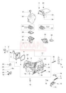 Części skrzyni korbowej, gaźnik, filtry pilarki Oleo-Mac 937 - 2865414358