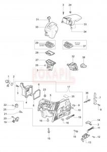 Części skrzyni korbowej, gaźnik, filtry pilarki Oleo-Mac 941c - 2865414365