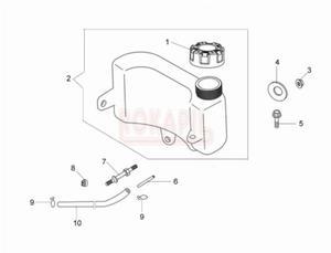 Zbiornik paliwa, korek paliwa, wąż paliwa, zacisk- kosiarki spalinowej Oleo- Mac G 44 TK (K500)- schemat - 2890529686