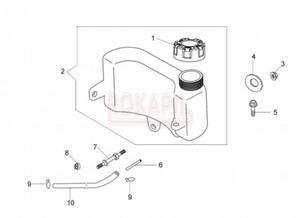 Zbiornik paliwa, korek paliwa, wąż paliwa, zacisk - kosiarki spalinowej Oleo- Mac G 44 TK (K500 - AUTOCHOKE)- schemat - 2890529696