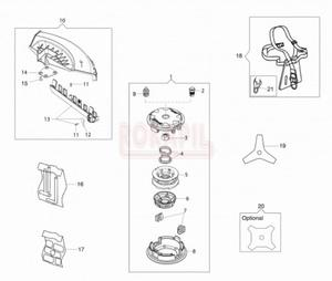 Akcesoria - głowica, tarcza, osłona głowicy, pas nośny - Kosy spalinowej Oleo-Mac - BC 400T - schemat - 2890529712