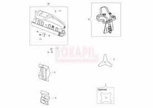 Akcesoria - tarcza, osłona głowicy, pas nośny - Kosy spalinowej Oleo-Mac - BC 241 T - schemat - 2890529717