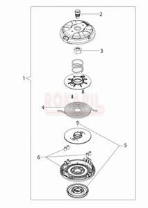 Głowica żyłkowa Speed&Go 130mm - nakrętka, sprężyna, pokrywa - Kosy spalinowej Oleo-Mac- T 241T - schemat - 2890529719