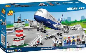 BOEING 787 samolot i LOTNISKO 1000 klocków - 1742798754