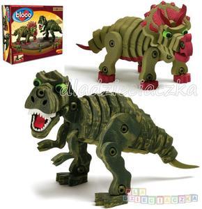 Bloco - zestaw 2 dinozaury klocki puzzle konstrukcyjne 3D
