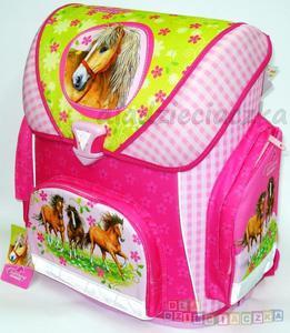 TORNISTER plecak CAMPUS SCOOLI CHARMING HORSES z wyposażeniem 2012 - 1742799193