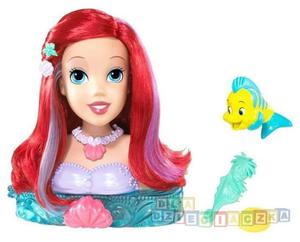 Disney Arielka głowa do stylizacji MATTEL R5470 - 1742799688