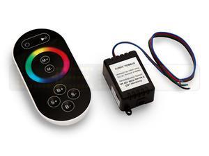 Kontroler LED 3 kanały RGB 12V 6A + czarny pilot dotykowy