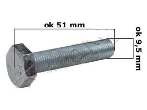 Śruba mocowania noża do kosiarki spalinowej z serii WR - 2833458557