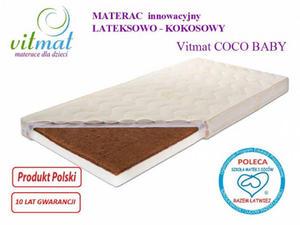 Materac Lateksowo-kokosowy Vitmat COCO Baby Antyalergic 140/70 - 2825997296