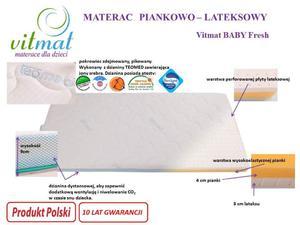 MATERAC Piankowo – lateksowy Vitmat Baby Fresh 120/60